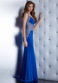 Jasz Couture 5448 Royal Beaded Sleem Evening Prom Gown