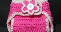 Crocheting: Free pattern Diaper Covers Newborn - Could leave the flower off and use boy colors Taylor