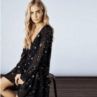 HDY Haoduoyi Star Moon Print Dress 2019 Spring Black Long Sleeve Elegant Party Dresses New Year Lining Suit Two Midi-Dresses $69.86 zhif.myshopify.com