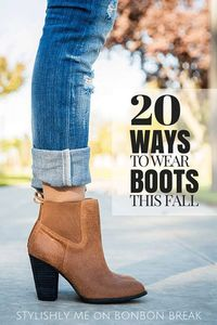 Fall is here along with it's lovely weather! Check out 20 different ways to wear your boots as the weather cools down!