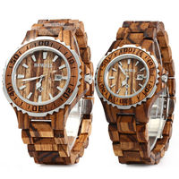 BEWELL Luxury Brand Pair of Couple Quartz Watch Waterproof Calendar Men Women Wood Watch Lover's Wristwatches relogio $104.00