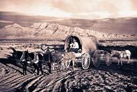 The Oregon Trail began as a path originally cut by Native Americans, which was later expanded by white fur traders. It later was used during the westward expans