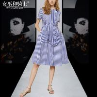 Vogue Simple Slimming Short Sleeves Stripped It Girl Summer Dress - Bonny YZOZO Boutique Store