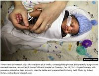 NICU Physical Therapists in the News - Pinned by