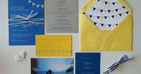 Are these closer to the yellow & blue Angie is wanting??? K + C wedding invitation - Em for Marvelous -