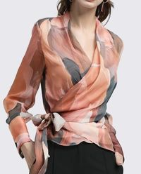 Fashion Elegant Casual Print Long Women Shirt Blouse,NEW,on Sale!