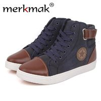 Canvas High Top Men Shoes British Style Autumn Winter Ankle Breathable $65.31