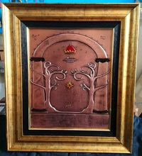 Gate of Moria relief copper wall art LOTR art metalworking �'�79.00