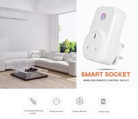 KCASA Wireless Remote Control Smart Socket Muti-function Socket Conversion Plug EU / US / UK Plug Timer Switch