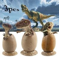 Ornaments or small toys/cake decorations ~ dinosaurs in eggs Material: Plastic Packing:3 pcs/set Ideal for little lovers of dinosaurs or for bigger collectors of dinosaur items