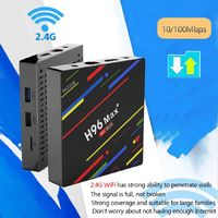 RK3328 H96 Max+ Android 8.1 2.4G Wi-Fi USB3.0 Set-top TV Box with 4GB RAM, 32GB ROM - EU Plug
