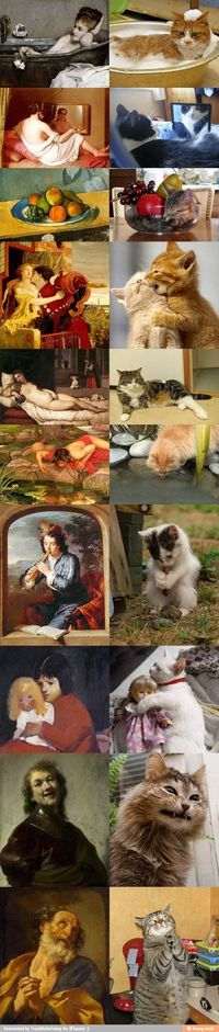 Cats and art / iFunny :)