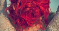 Red hair...messy pins...love.