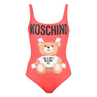 MOSCHINO CROSS BEAR SWIMSUIT RED