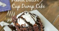 "Peanut Butter Cup Dump Cake �€"" Just 4 ingredients come together to make a rich, fudgy, chocolate-y cake studded with lots of peanut butter cups!"