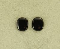 Black Glass 12 x 15 mm Cushion Cut Square Magnetic Non Pierced Clip On Earrings $35.00 Designed by LauraWilson.com
