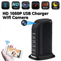 WIFI 1080P HD Wireless Camera Socket USB Charger Cam Video Recorder Home Safe