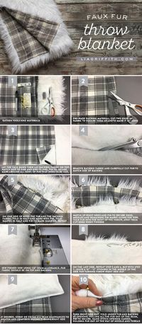 Stay cozy this winter by sewing yourself a faux fur throw blanket. Follow our tips and easy photo tutorial for crafty success!