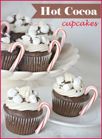 If you're looking for an easy and festive way to decorate a boxed cupcake mix, check out these fun hot cocoa cupcakes. They look fancy, but are actually fairly