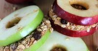 Healthy Snacks are important for kids and grown ups alike. These Apple Sandwiches are a great summertime snack as well as perfect healthy snacks for after school and as hard as it is to believe, back to school is just around the corner! They are easy to m...