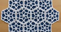 Ravelry: Moroccan Hexagon Motif Cushion pattern by Esther Chandler