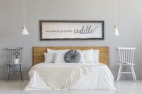 We Should Probably Cuddle. Rustic wood sign. Bedroom Sign. Bedroom Decor for above the bed. Farmhouse bedroom, Shabby Chic bedroom, Romance $120.00