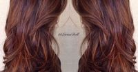 Caramel and butterscotch balayage ombré. I want my hair like this. So much. Beautiful rich warm brown with caramel and butterscotch hair melting ombré to give an amazing effect. This uses the technique of ombré balayage to created a varied natural look...