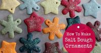 How To Make Salt Dough Ornaments | Salt dough ornaments are an easy, fun, and inexpensive way to decorate the home and gifts for the holidays. | http://diygiftworld.com/make-salt-dough-ornaments/