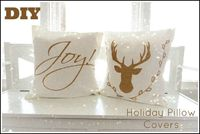 DIY Holiday Pillow Covers made with Cricut Explore -- Beauty Babbler. #DesignSpaceStar Round 5