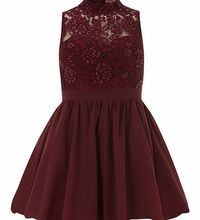 Dorothy Perkins Womens Chi Chi Beaded sleeveless skater dress- Lace turtle neck dress, beaded bodice, fully lined, concealed back zip, padded bust. 65cm. 100% Polyester. Hand wash only. http://www.comparestoreprices.co.uk//dorothy-perkins-womens-chi-c...