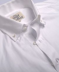 White Herringbone 2 Ply Cotton Button Down Shirt �'�1799.00