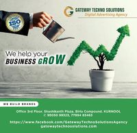 """""""GATEWAY TECHNO SOLUTIONS is the leading advertising agency in digital marketing platforms, all over the regions locating in around Kurnool, Andhra Pradesh. We are expertise in SEO, SEM, PPC, Social Media, Email Marketing, etc.,  The endless effort..."""