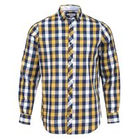 Create a stylish look with this Oxford Men mustard and multi casual shirt. Woven in Egyptian cotton. this casual shirt has a fine finish.  �€� 100% Cotton  �€� Classic collar  �€� Full Sleeve  �€� Oxford Men  �€...