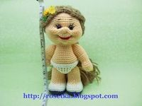 crochet amigurumi doll pattern & tutorial pics, not english