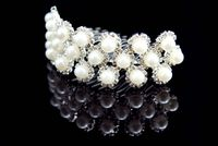 Charming Created Clear Crystal Hair Jewelry & Wedding Headpieces & Wedding Tiaras