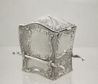 Antique silver playing card case