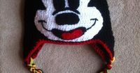Mickey Mouse Hat Sizes 12 months and up by MamaKeenCrochet on Etsy, $30.00
