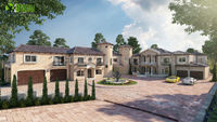 Touch Of Luxury Villa ideas by Yantram 3d exterior rendering Mexico city.