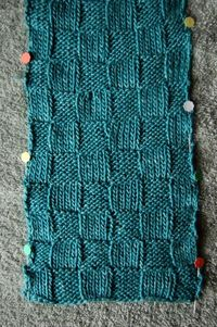 how to block a knitted scarf