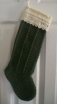 Crochet Christmas Stocking by NiftyNeedlework on Etsy, $15.99