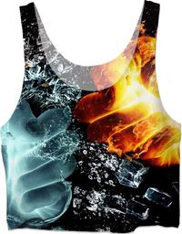 ROCT Fire And Ice Women's Crop Top $37.00