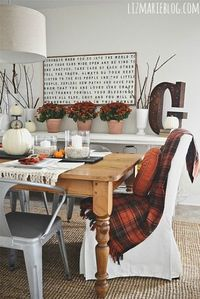 Vintage Fall Dining Room - I decorated our dining room for fall! I had so much fun playing around with new & vintage items creating a cozy space that was perfec