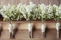 Perfect bouquets for a rustic outdoor ceremony, from #southernweddingsmagazine