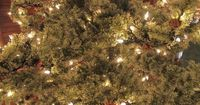 Pre-lit artificial Christmas trees offer many advantages over real trees. Pre-lit trees are easy to set up, cost about the same as real trees and do not require