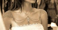 Necklace For The SHOULDERS 1920s Inspiration by mylittlebride.