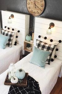 Use buffalo check to create a warm and cozy feeling in your home during the fall and winter months. It is the perfect modern farmhouse decor. #HomeDecorColors,