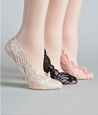 Love that they are cushioned! super adorable in lace! Look easy to fit in a purse for when heels start to hurt. plus they are $6 ...whoa! I like these.