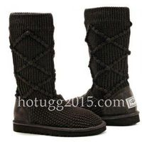 UGG Classic Argyle Knit Boots Chocolate 365C8A
