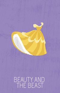 Belle in Beauty and the Beast (1991) - Minimal Disney Princesses Posters by Ryne Abraham