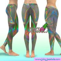 REFLECTIVE RAINBOW Yoga Leggings Printed Leggings Yoga Wear Yoga Pants Women Yoga Leggings Festival Leggings Colorful Leggings Rave Clothing £37.00